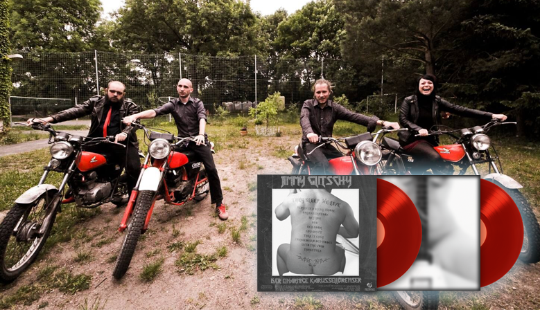JIMMY GLITSCHY DER EINARMIGE KARUSSELLBREMSER - They Sleep, We Live! - limited transparent rot vinyl